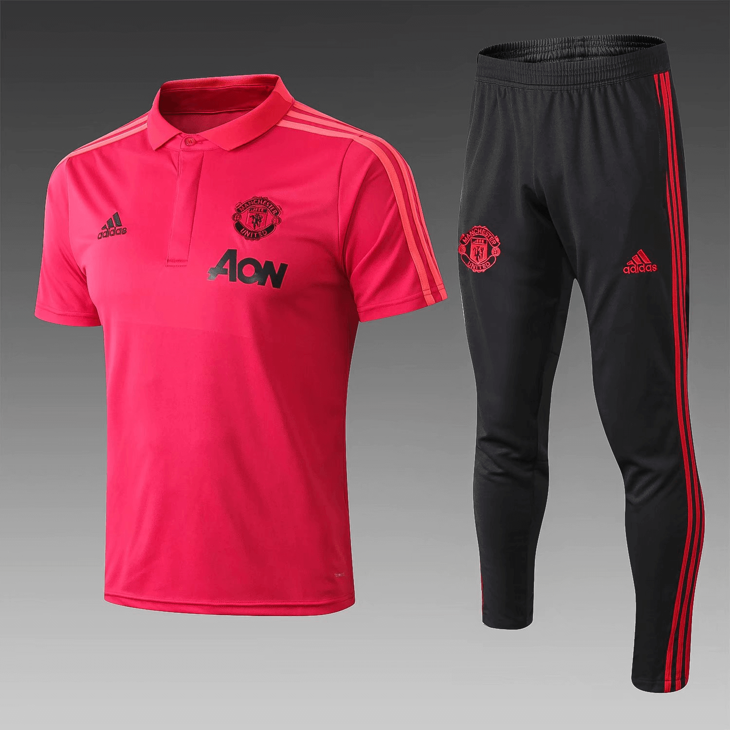 Manchester United 18 19 Red Polo Shirt (with long pants) 11ce5446285fd