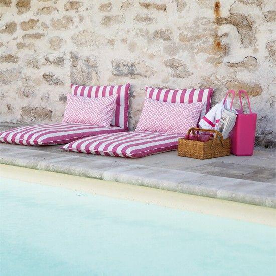 pink poolside stripes
