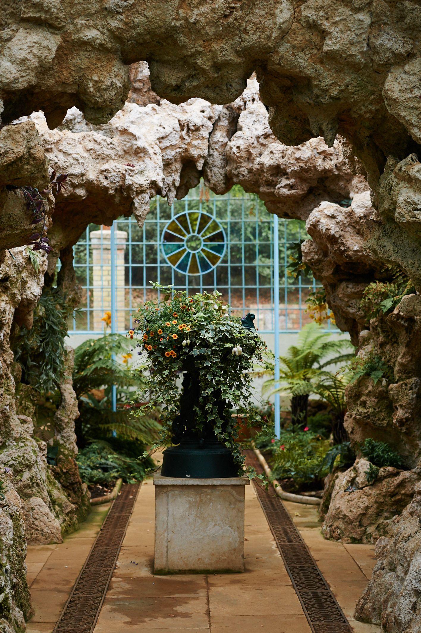 The Grotto In The Swiss Garden Shuttleworth Biggleswade One Of The Fairytale Follies Garden Structures Garden Biggleswade