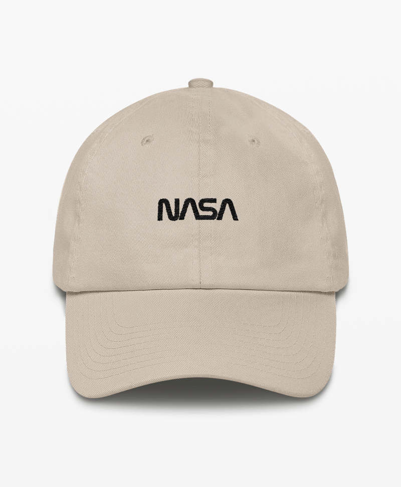 9260759d8d7 Baseball Hat · Made in USA unstructured NASA cap with the NASA Worm  embroidered logo on the front and