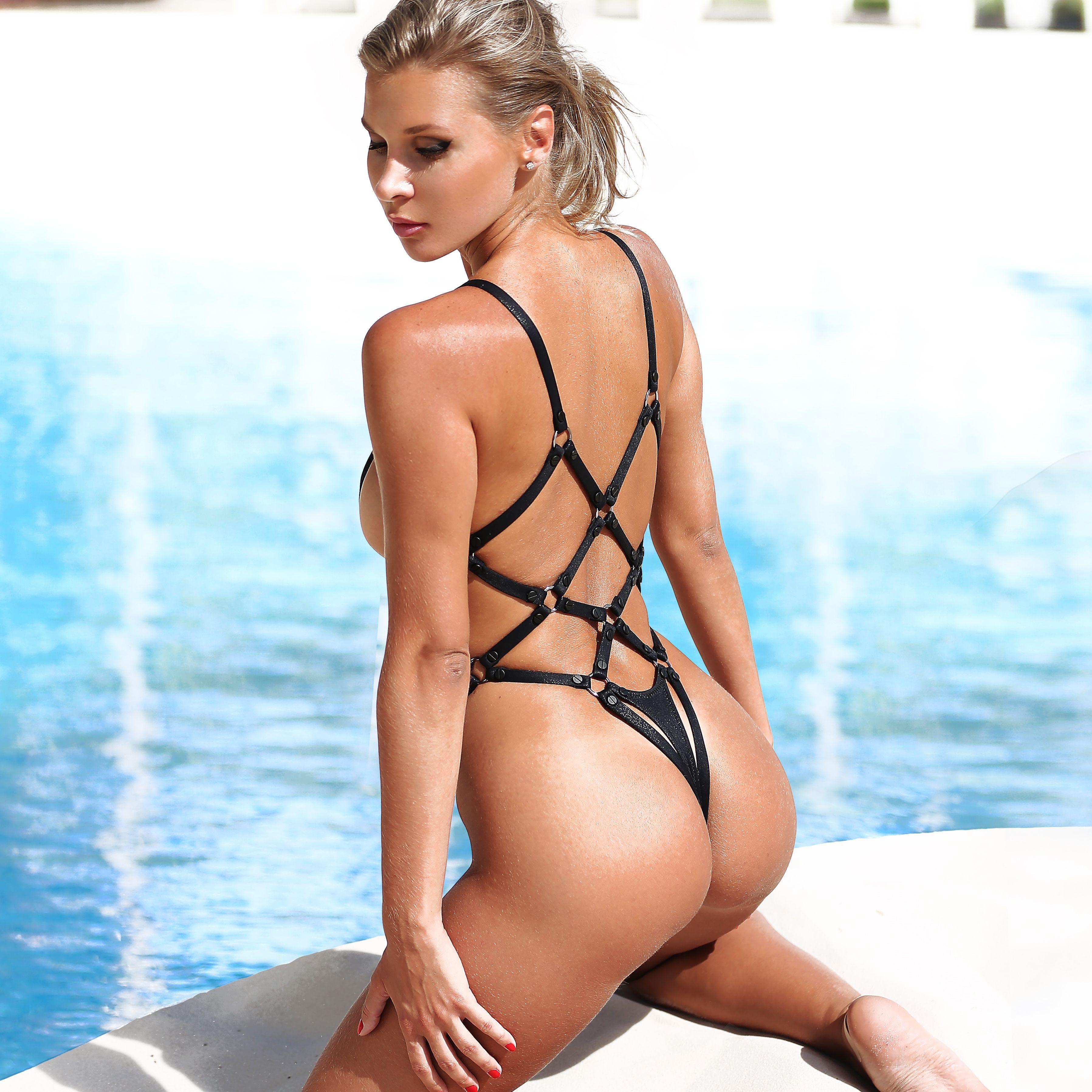 a22cc97506 Hot sexy one piece swimsuit harness Extreme monokini Thong Swimwear 2019  Women's swimwear, bathing suits