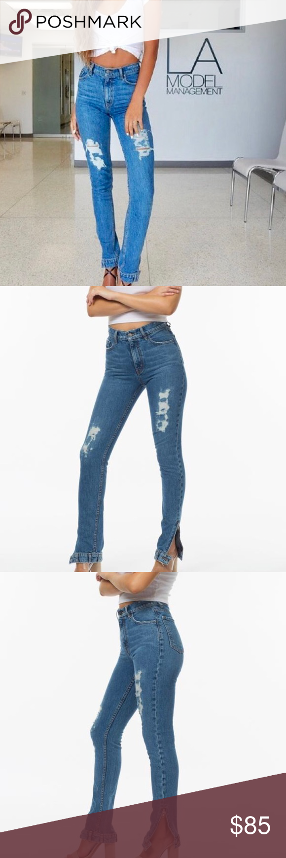 """NWT REVICE """"Farrah"""" vintage high waisted mom jeans We're turning your world upside down with our new body and high waisted fit in the Farrah jean. Made with high quality, imported, Italian fabric this jean is the jean of your dreams. With this hip hugging fit this jean will surely give you the booty lift you've been looking for. Moonlight wash.  - 33"""" Inseam - 11"""" Rise - True to size - Zipper Detail at Ankle - Waistband detail at Ankle complete with belt loops and button hardware - 98%…"""