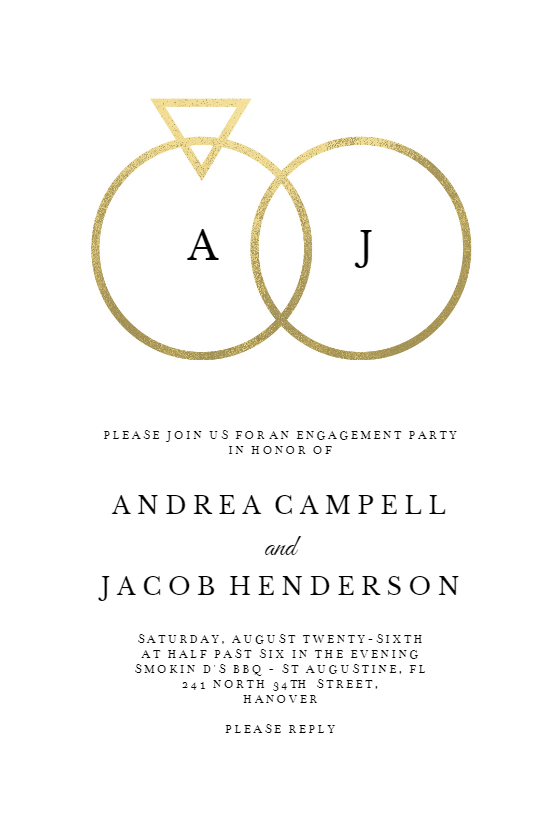 Connected Rings Engagement Party Invitation Template Free Greetings Island Engagement Party Invitations Engagement Party Engagement Invitation Cards