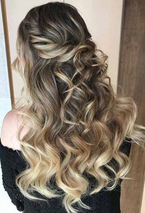 demanded long ombre prom hairstyles