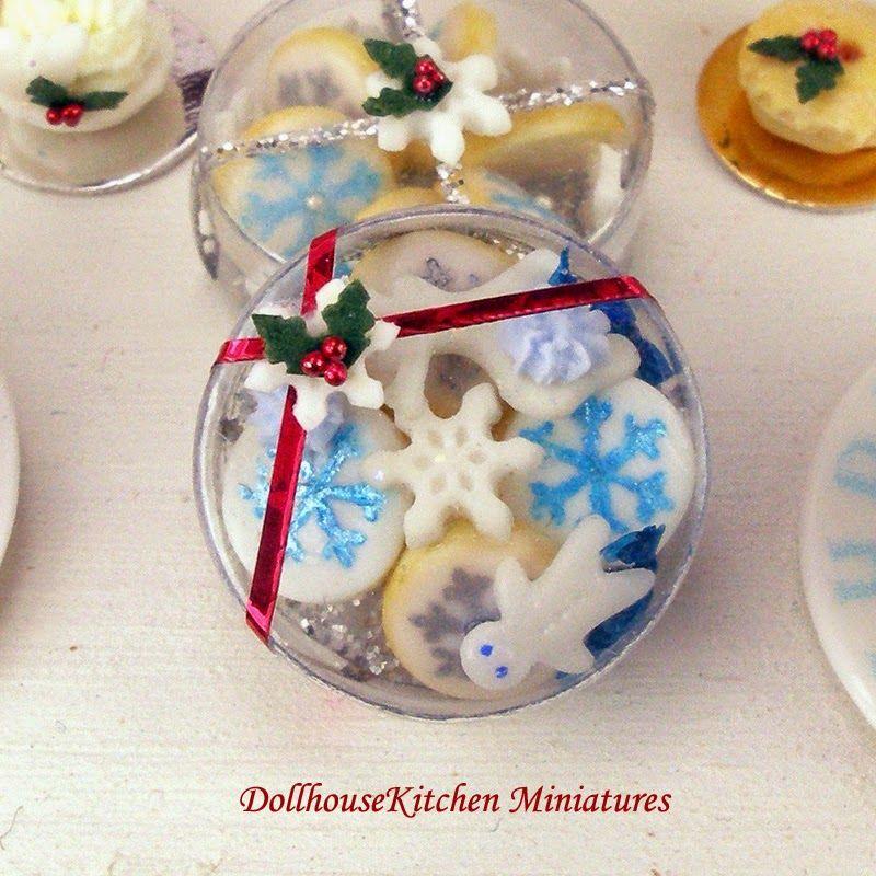 Cocina del Dollhouse Miniaturas: Colección de Navidad Copos de nieve y hielo