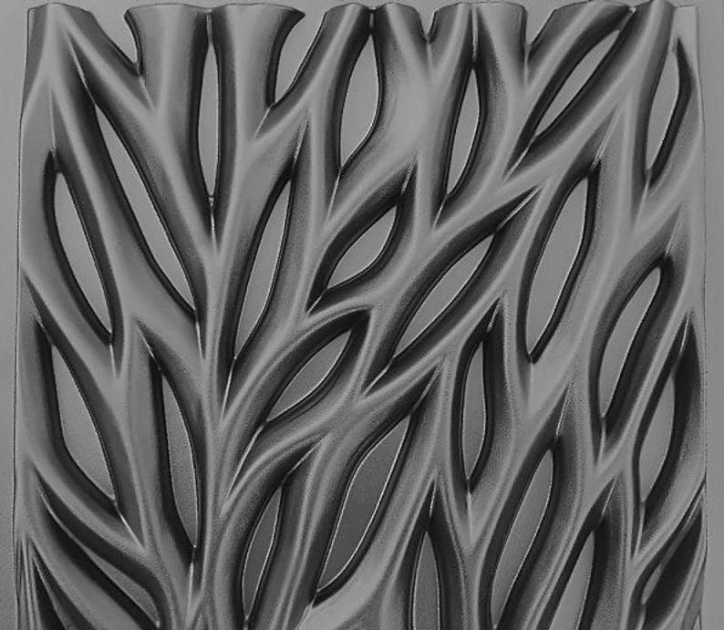 or concrete decor wall panels gypsum ABS Plastic mold 3D Panel Bamboo for making from plaster