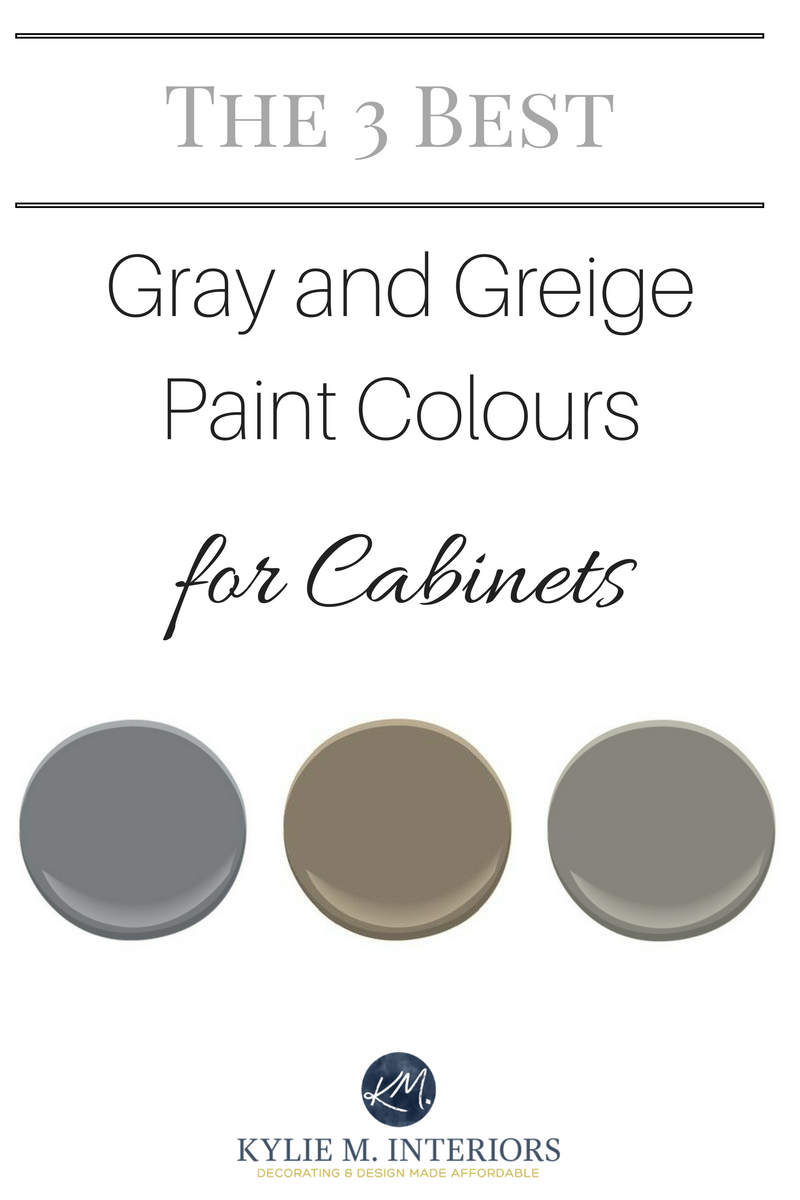 The 3 Best Medium Toned Gray And Greige Paint Colours For Kitchen Cabinets And Bathroom Vanities Kyli Greige Paint Colors Best Greige Paint Color Greige Paint
