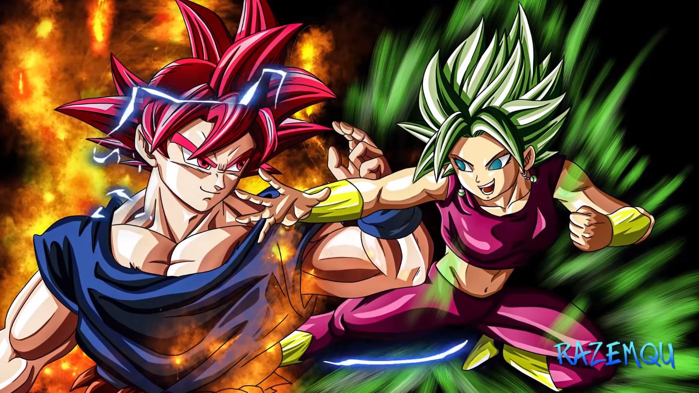 Goku Ssjg Vs Kefla Ssjl Dragon Ball Goku Ssjg Anime Dragon Ball Super