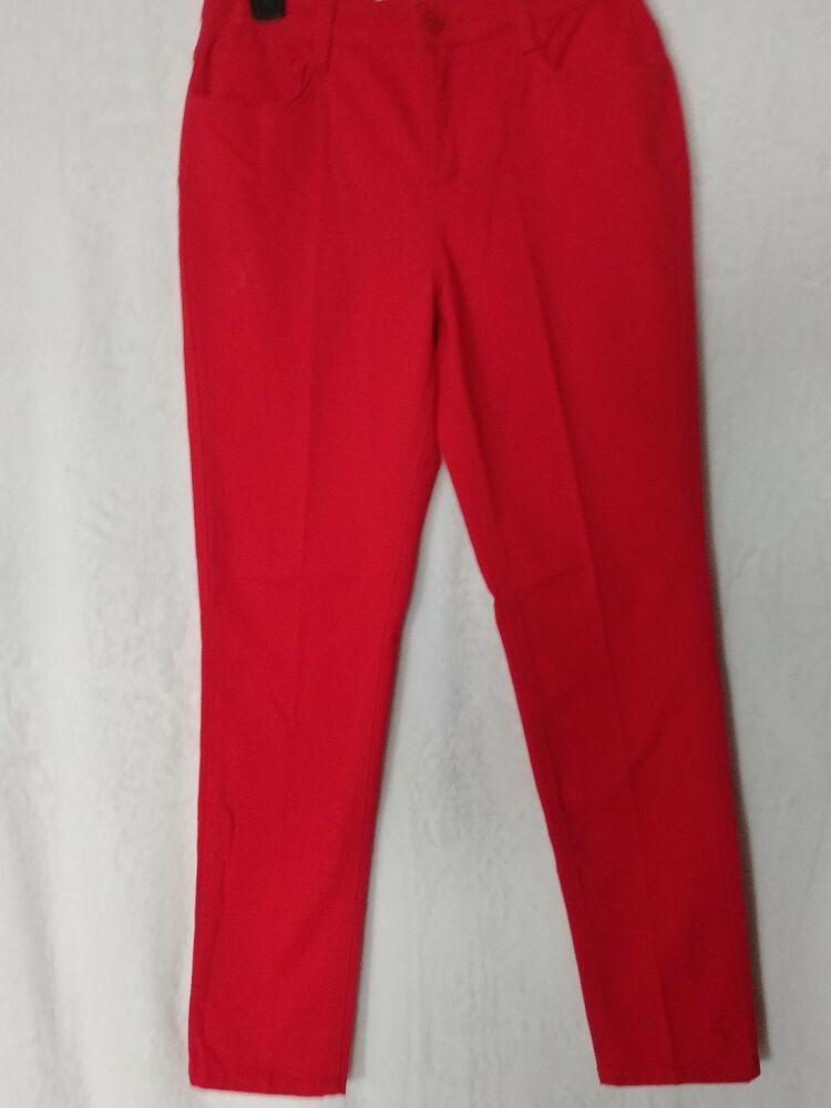 Jones New York Womens Red Jeans Soho Ankle Stretch Size 4 Jonesnewyork Slimskinny Red Jeans Ankle Pants Women Womens Stretch Jeans