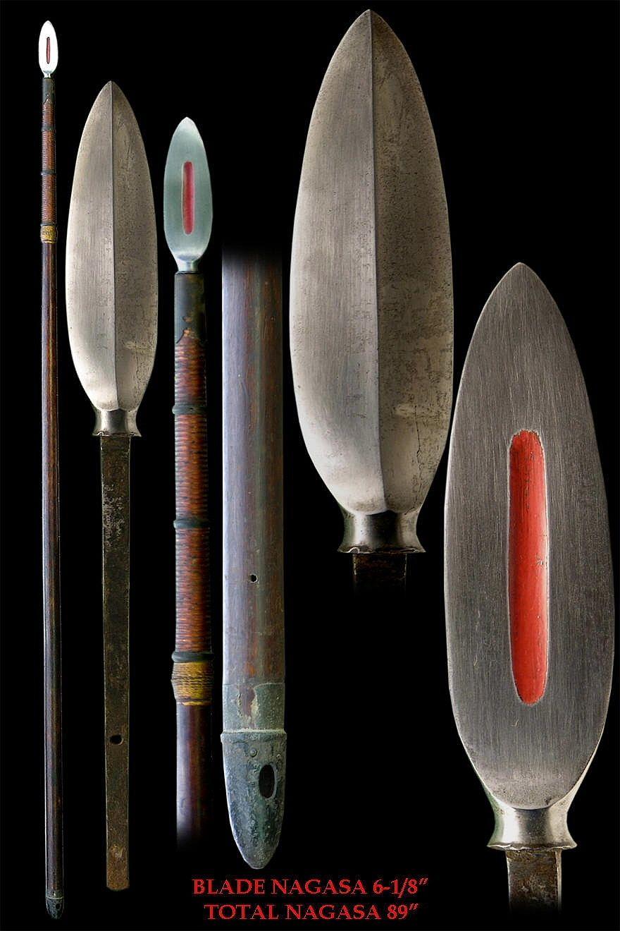Antique Edo period samurai sasaho yari (leaf shaped blade).  http://www.samuraiantiqueworld.com/