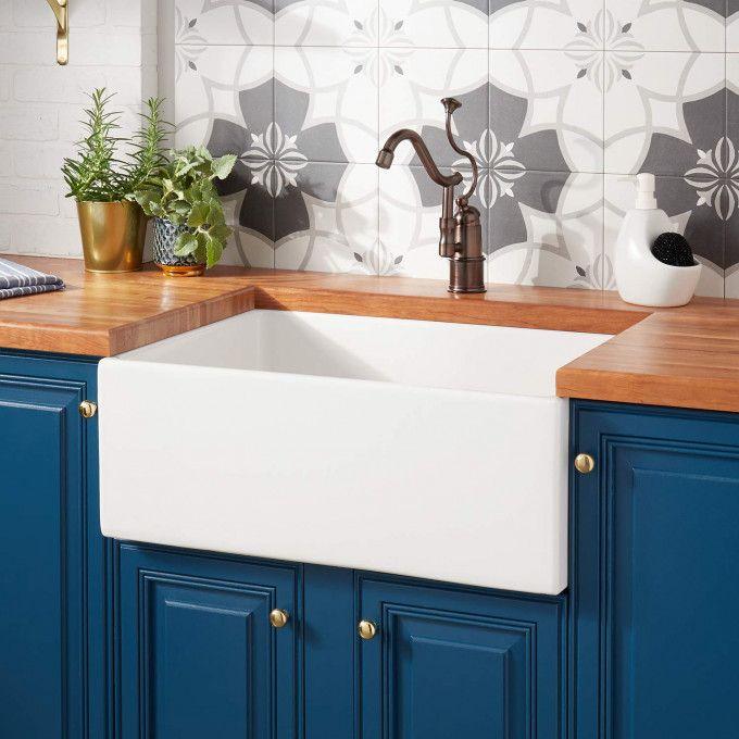 27 Torun Fireclay Farmhouse Sink White Kitchen Lifetime
