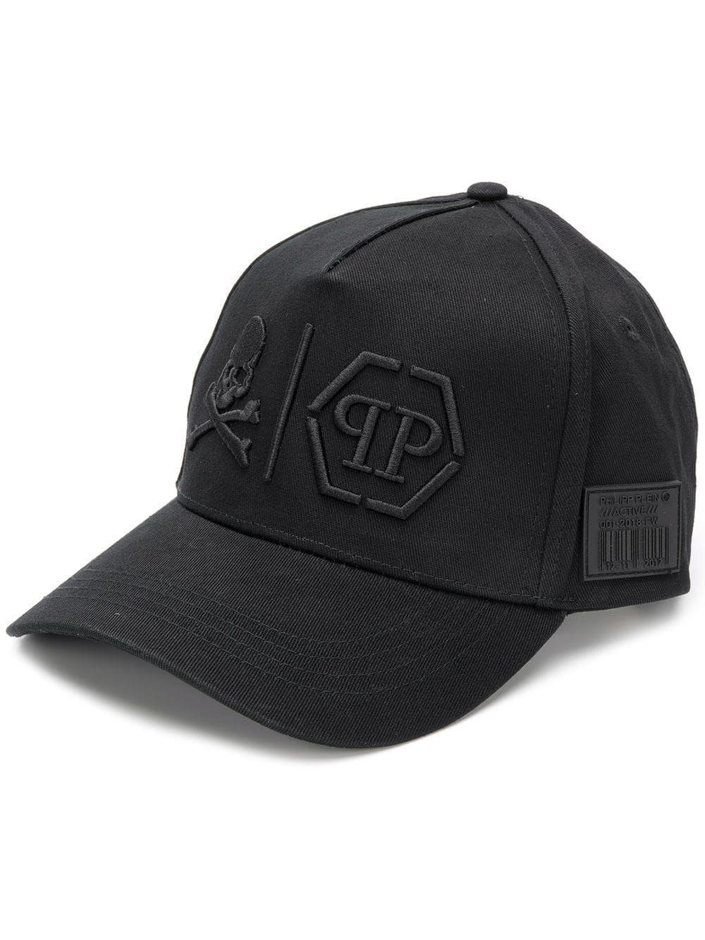 cfd11ad34 PHILIPP PLEIN PHILIPP PLEIN 'SIMPLE SKULL' CAP - BLACK ...