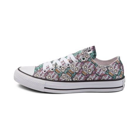 10e8b2791298f1 ... Chuck Taylor All Star Sneakers Shoe - My Sugar Skulls. Converse Low Top  Aqua Green Pink Sugar Skull Custom Kicks