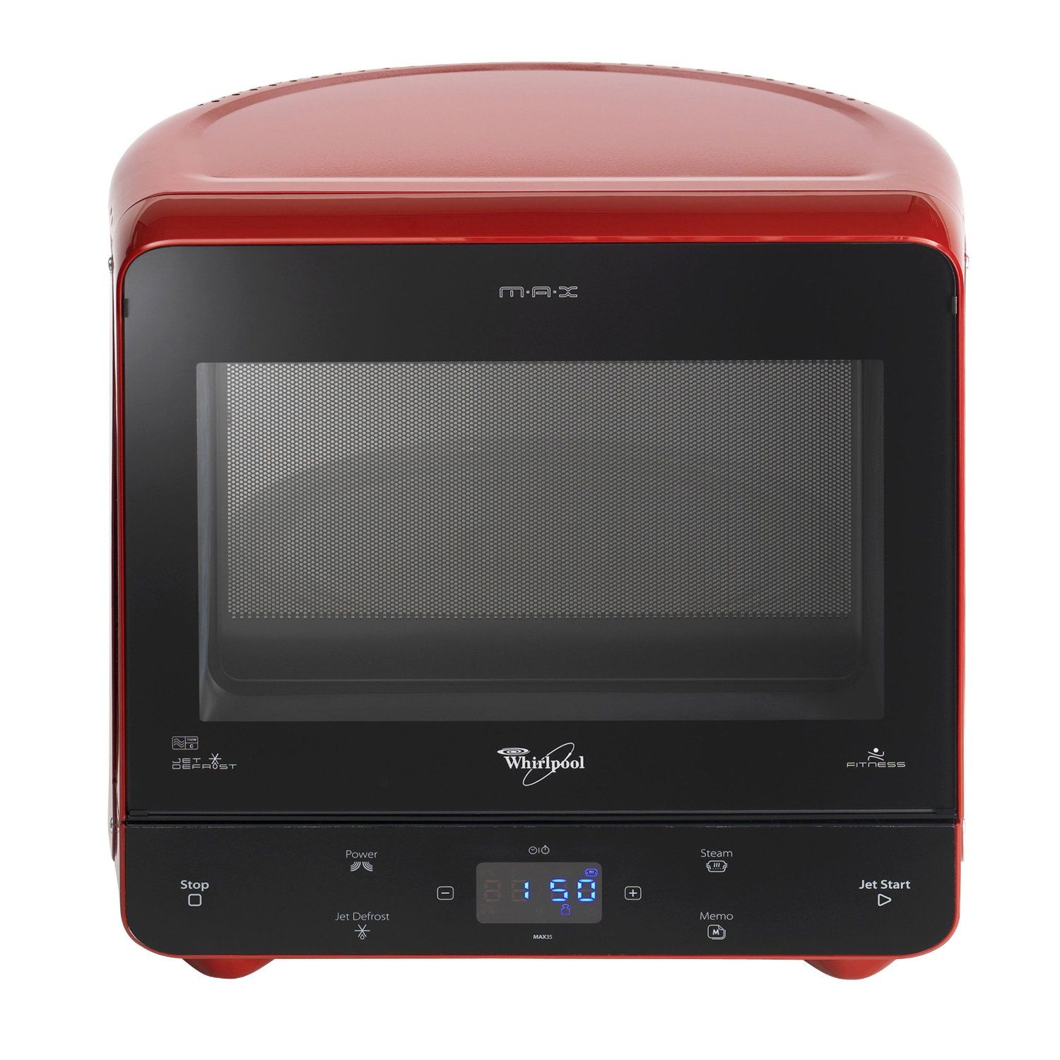 Whirlpool Max Microwave With Steam Function Red Amazon Co Uk Kitchen Home Whirlpool Steam