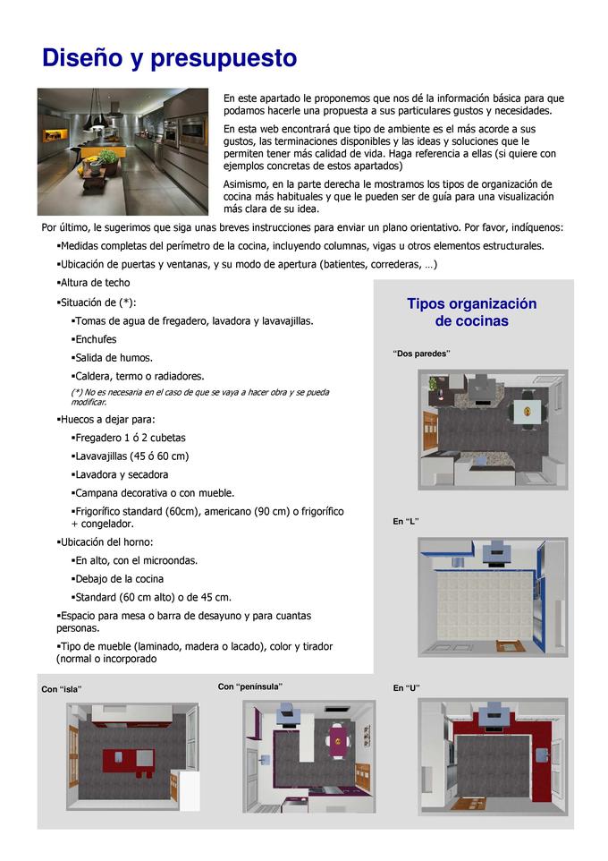 Diseño y presupuesto de cocinas - Muebles de cocina Mary Carmen ...