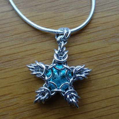 Sparkler Pendant Tutorial Chainmaille