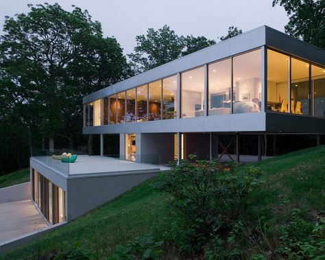 Panoramic Views Surround This Cantilevered House From All Four Sides House On Stilts Architecture House House Design