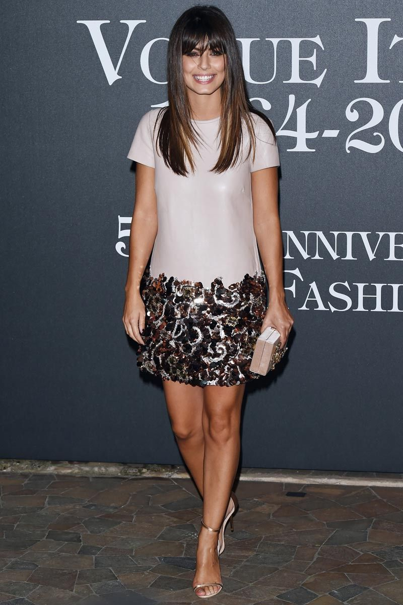 Alessandra Mastronardi attends Vogue Italia's 50th Anniversary Celebration.