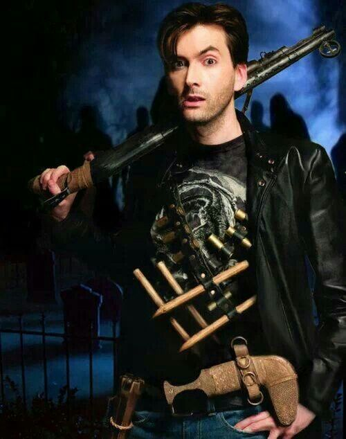 David Tennant in Fright Night promo pic. (From FB, David Tennant's official page)