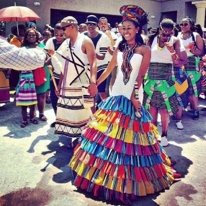 Venda Traditional Modern Dresses: Xhosa Meets Venda Traditional Attire. So Beautiful. In