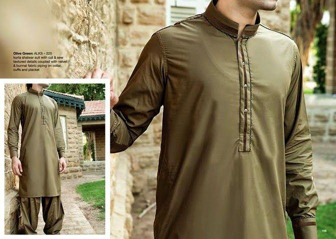 Menswear Kurta dresses 2014 For Eid By Junaid Jamshed (4