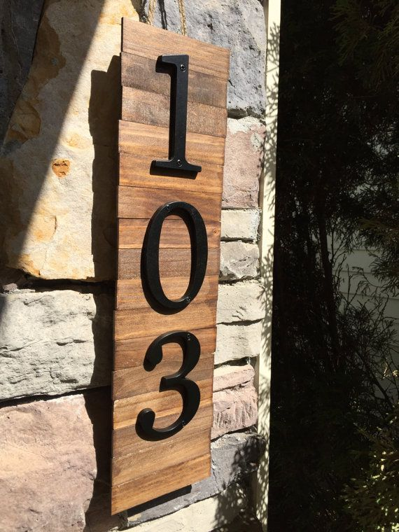Decorative House Number Plaque 3 S Wooden Plaque By Mkatesdesigns