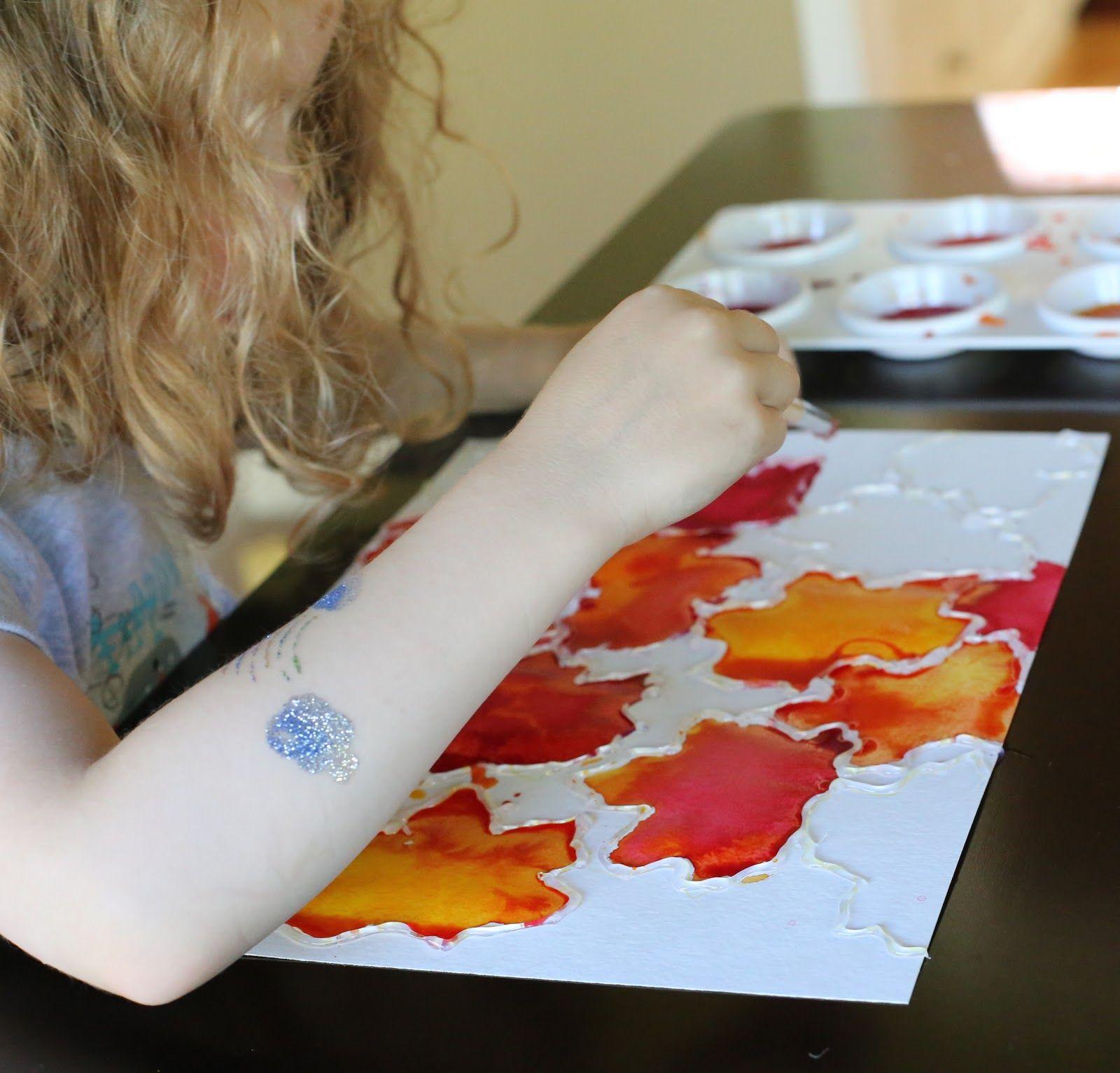 fall leaf watercolor resist art act man pinterest automne feuille automne et art. Black Bedroom Furniture Sets. Home Design Ideas