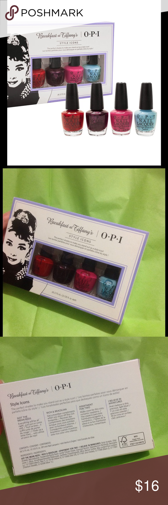 OPI Breakfast At Tiffanys Style Icons Set Brand New Nail Polish