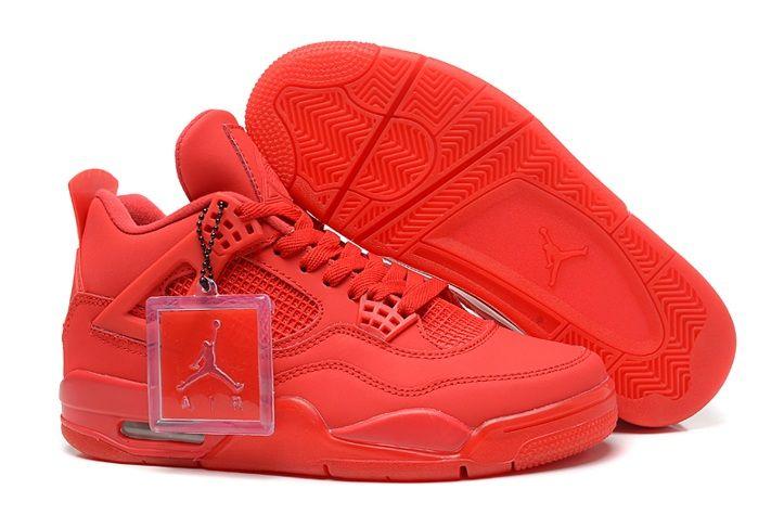 all red air jordans