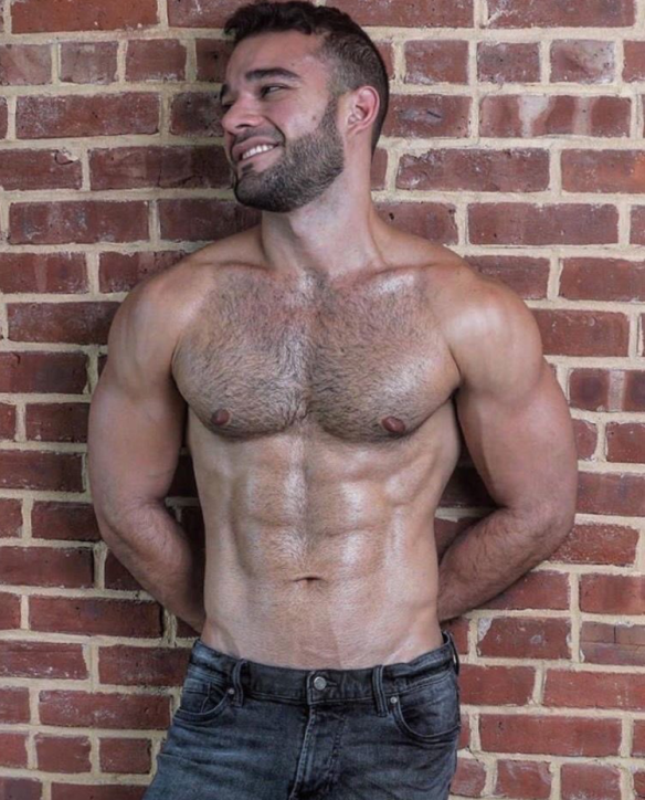 Handsome Hairy Muscles Abs Man Beard Hot Hunks Hairy Muscle Hunks