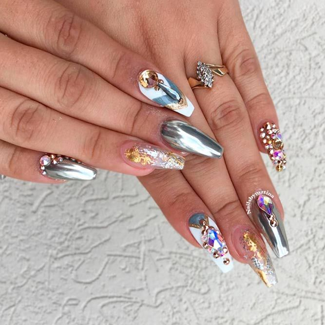 21 Сute Designs for Your Ballerina Shaped Nails