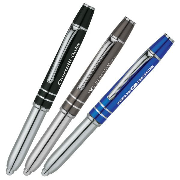 Personalized Promotional Products - Printed with Your Message: Light-up  Vivano Stylus Ink Pen