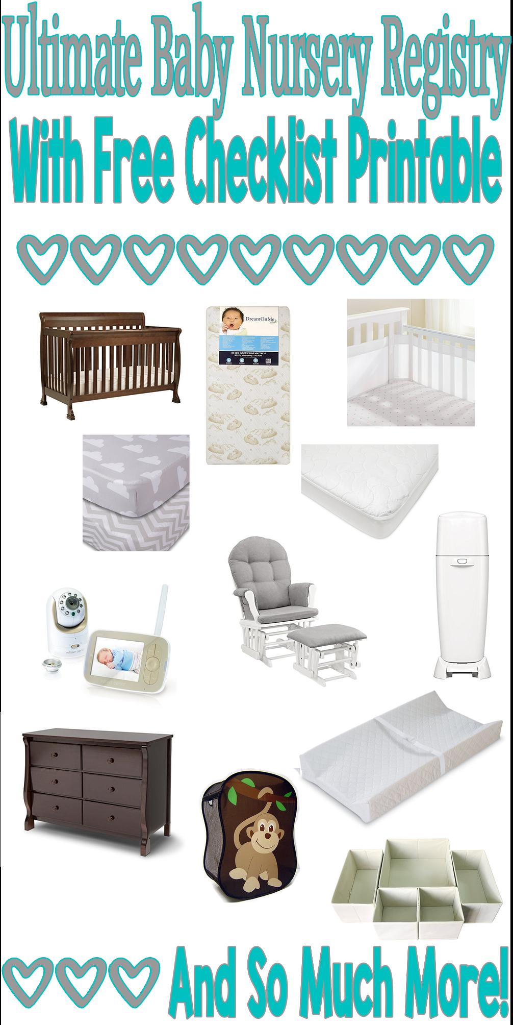 Nursery Registry Must Haves New Baby Nursing Mom Ultimate