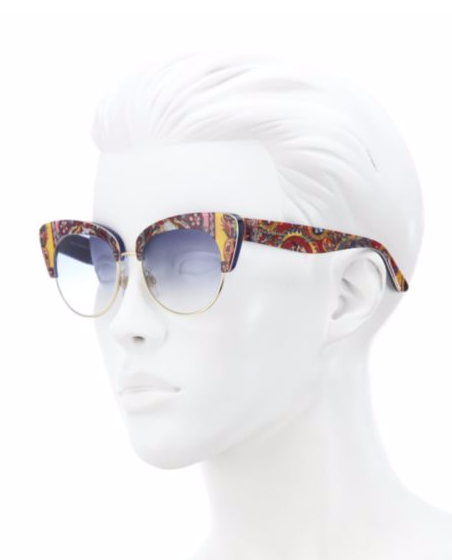 Sicilian Carretto 52MM Acetate & Metal Cat's-Eye Sunglasses