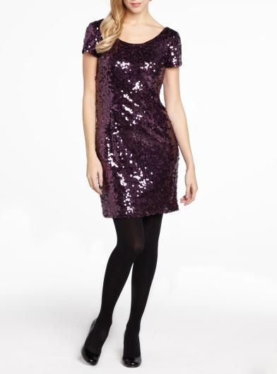 Short sleeve sequin dress   Women   Shop Online at Reitmans