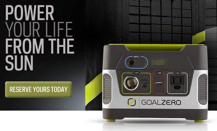 Goal zero yeti 150 solar generator for unexpected power