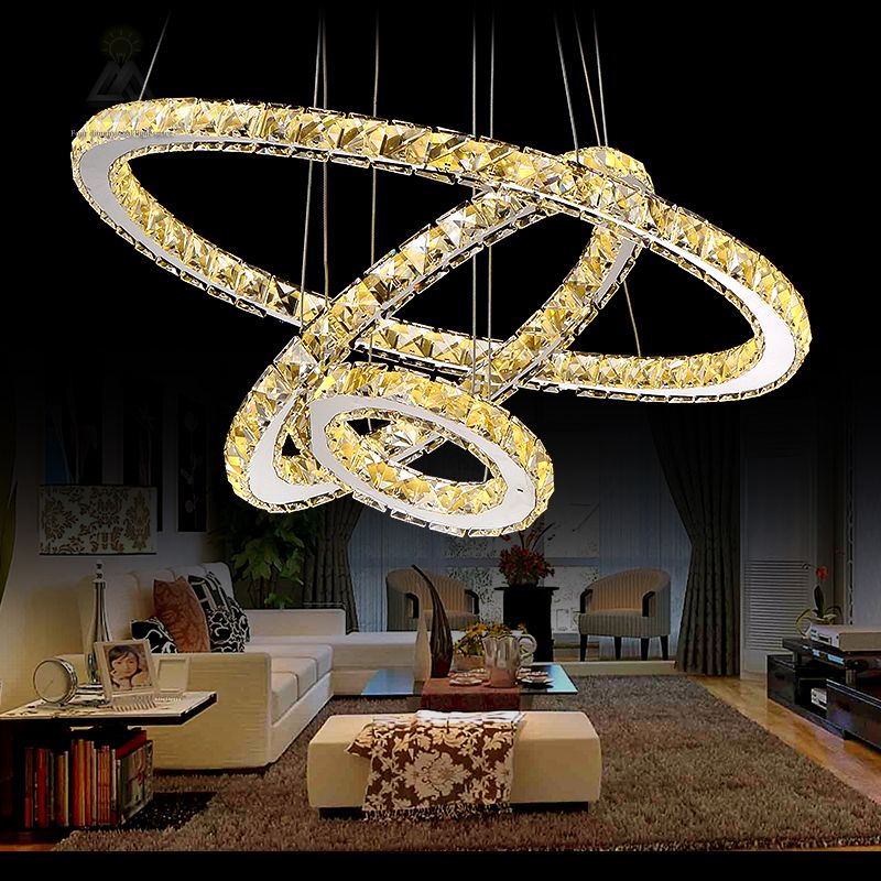 Hot sale diamond ring led crystal pendant light modern led lighting hot sale diamond ring led crystal pendant light modern led lighting circles hanging lamp 100 aloadofball Gallery
