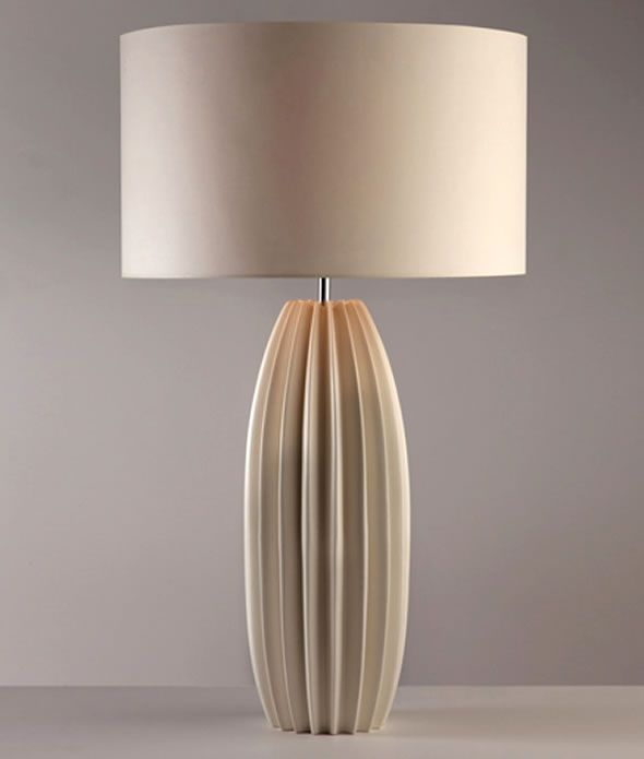 Good Proportion And Texture Contemporary Table Lamps