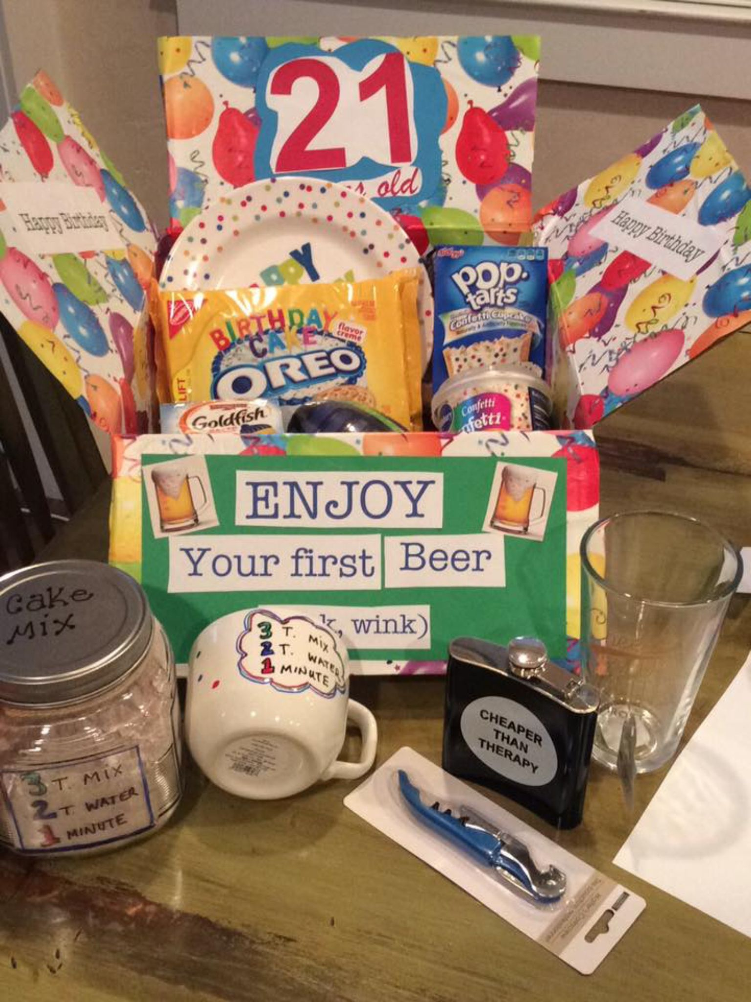 Birthday Gift Baskets For College Students : St birthday care package for college student deployment