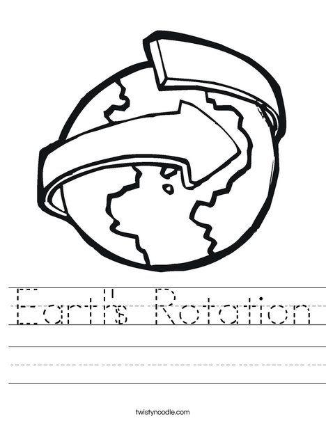 Earth S Rotation Worksheet Earths Rotation Earth Worksheet Alphabet Activities Preschool