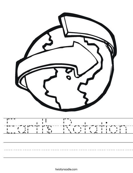 Revolving Earth Worksheet Earths Rotation Preschool Kids