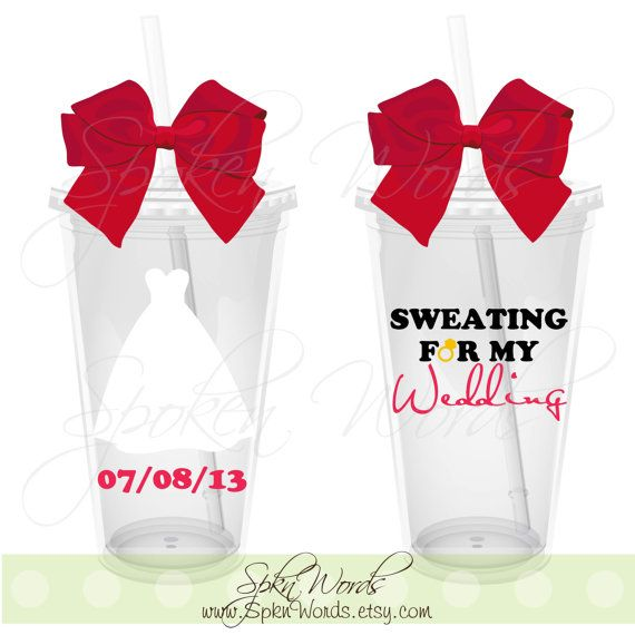 Sweating for My Wedding Personalized Gift 16 oz. by SpknWords, $12.00
