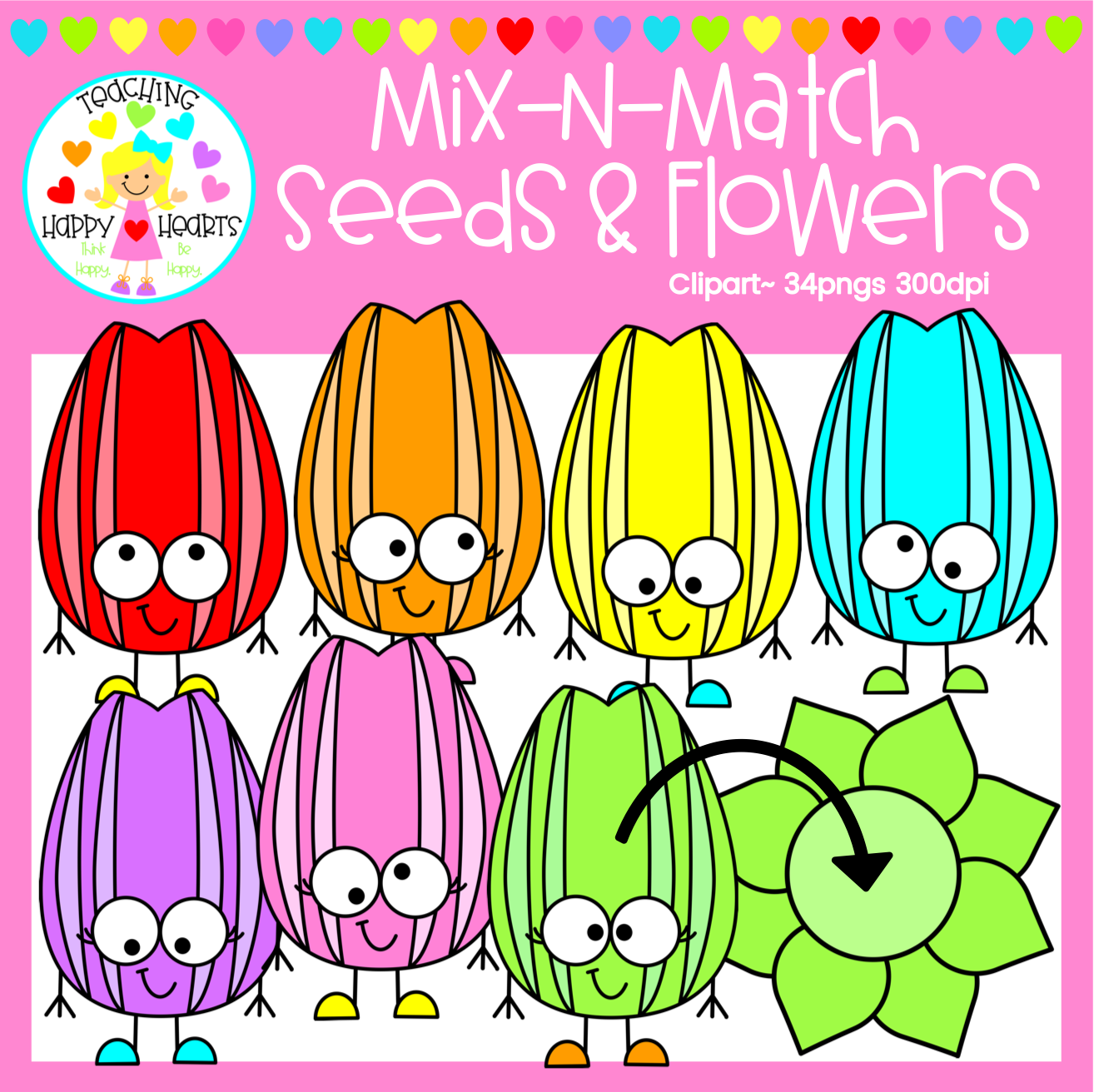 Seeds Amp Sunflowers Clipart In