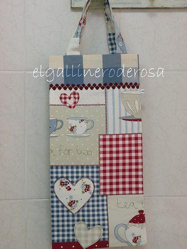 314975a50 BOLSA DE TELA PARA EL PAN. | Costura | Bread bags, Grocery bag holder y  Patchwork