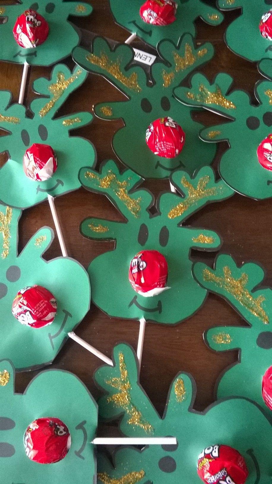Un Dulce Caramelo en Navidad, hechos Renos para un hermosa atención ...