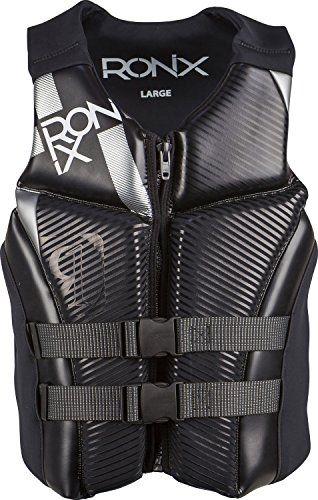 Ronix 2016 Covert Front Zip Cga Vest Black Metallic Silver Life Jacket Medium Check Out This Great Product Life Jacket Covert Life Jackets And Vests