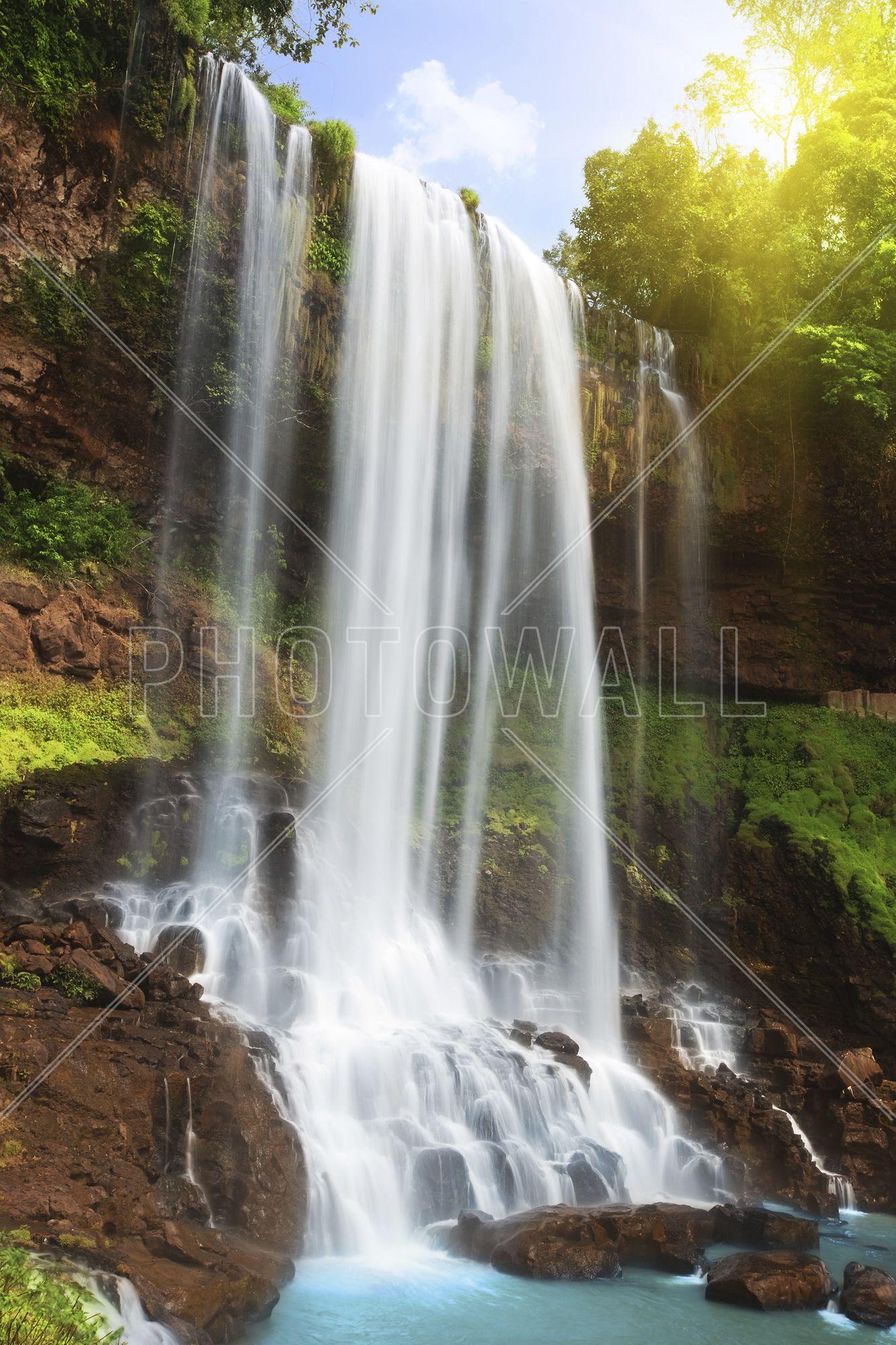 Secret Falls Mural by QuickMurals Waterfall in
