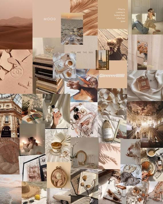 Beige collage, Aesthetic collage, room collage, beige aesthetic, nude collage, nude aesthetic, room decor, collage room decor, nude, beige