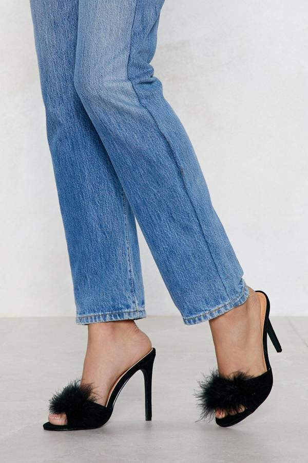 98134247caf Nasty Gal Slip Into Something Feather Heel