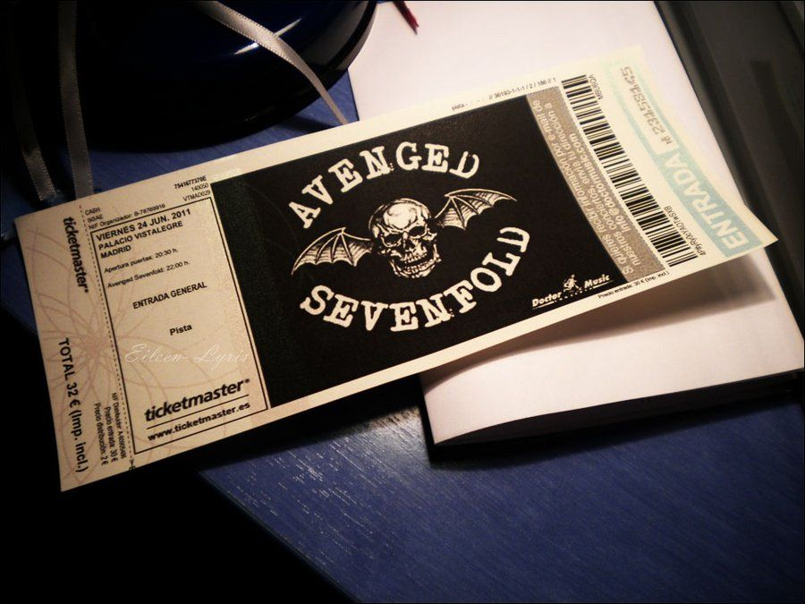 25 Awesome Examples Of Concert Ticket Designs - concert ticket layout